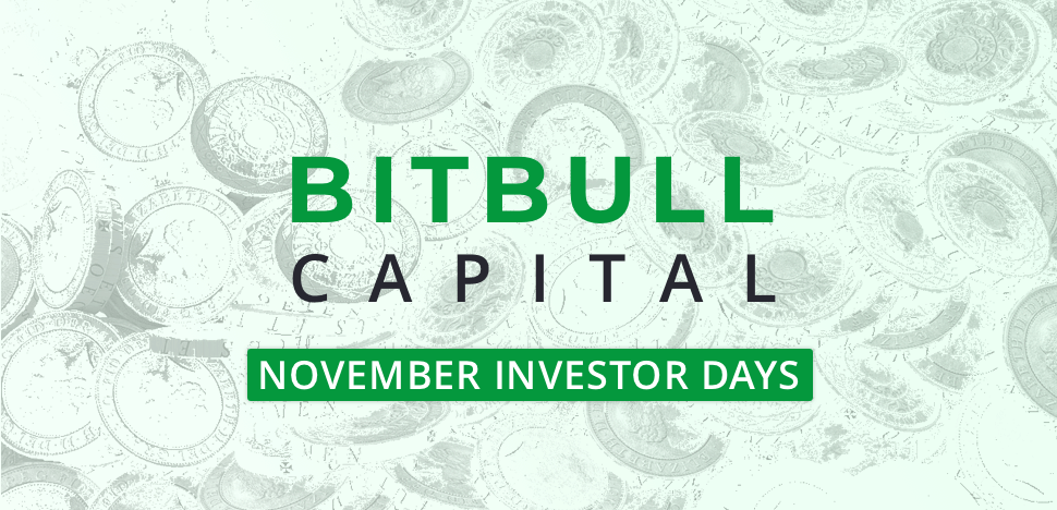 BitBull's November – Investor Days, Bitcoin Buying Point Report & More