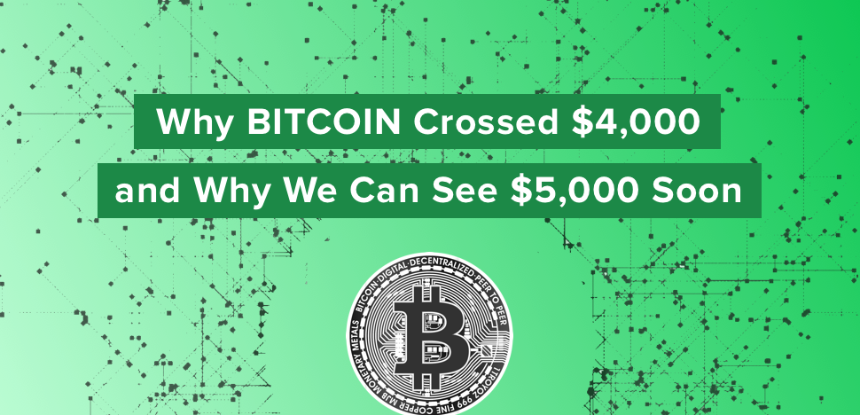 Reasons Why Bitcoin Crossed $4,000 and Why We Can See $5,000 Soon