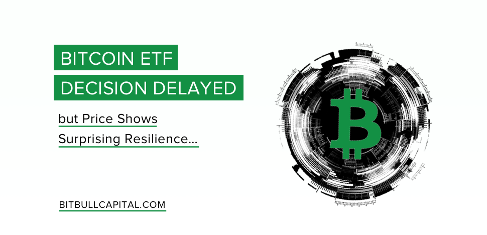 Bitcoin ETF Decision Delayed but Price Shows Surprising Resilience