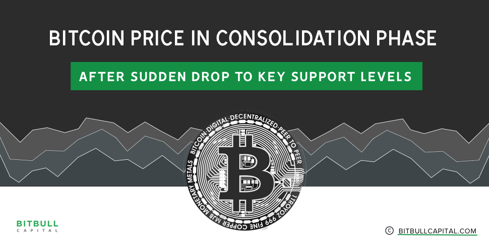 Bitcoin Price in Consolidation Phase After Sudden Drop to Key Support Levels